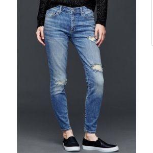 GAP Stretch Distressed True Skinny Jeans